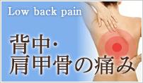 背中・肩甲骨の痛み、筋肉の痛みにトリガーポイント治療した症例