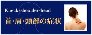 首・肩・頭部の症状