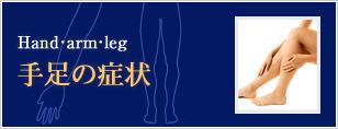 坐骨神経痛や手の痺れ、腱鞘炎や足の歪み、O脚矯正などの手足の痛み症状一覧
